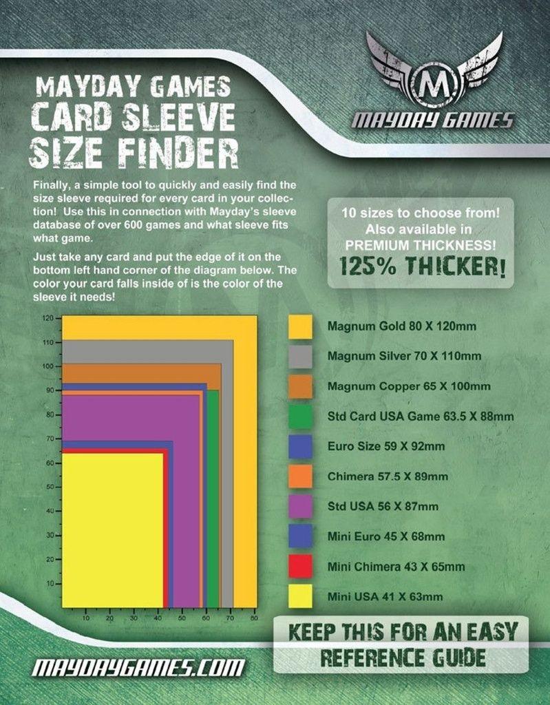 Sleeves Mayday Euro Card Sleeves (59x92mm) - Premium Protection (Com 50 protetores de cartas)  - Mercado RPG