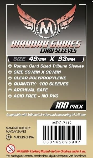 Sleeves Mayday Tribune Card Sleeves (49x93mm) - Standard Protection ( Com 100 protetores de cartas)  - Mercado RPG