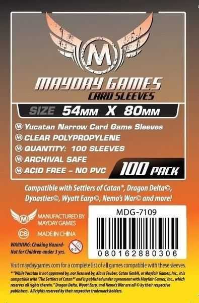 Sleeves Mayday Yucatan Card Sleeves - Narrow (54x80mm) - Standard Protection (Com 100 protetores de cartas)