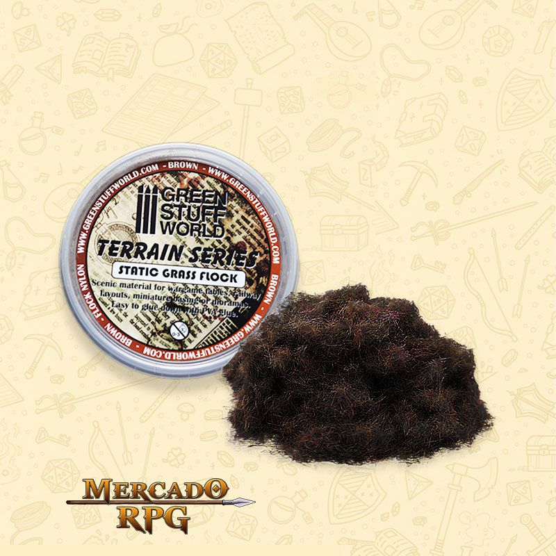 Static Grass Flock 3 mm - Brown - 180 ml - RPG