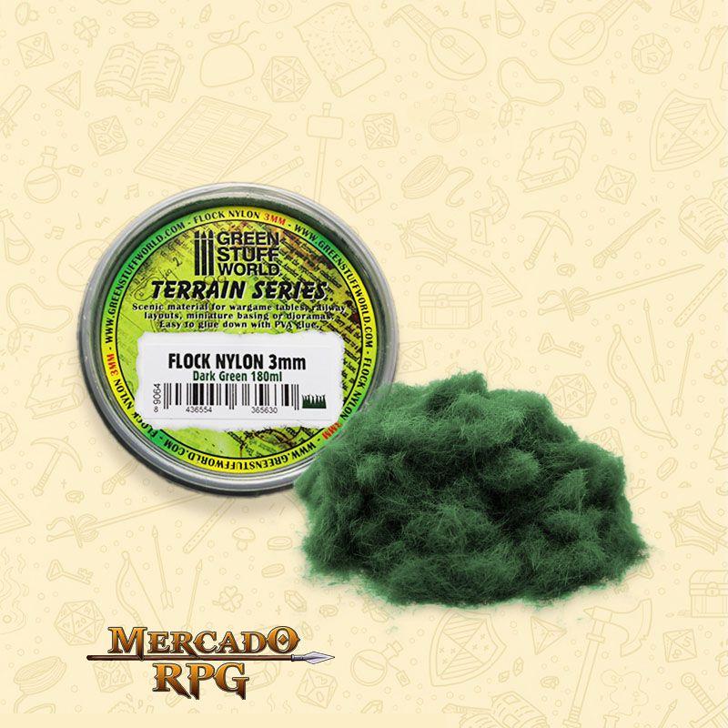 Static Grass Flock 3 mm - Dark Green - 180 ml - RPG