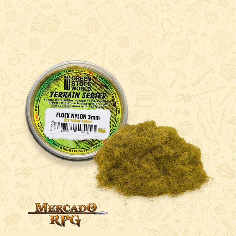 Static Grass Flock 3 mm - Dry Yellow - 180 ml - RPG