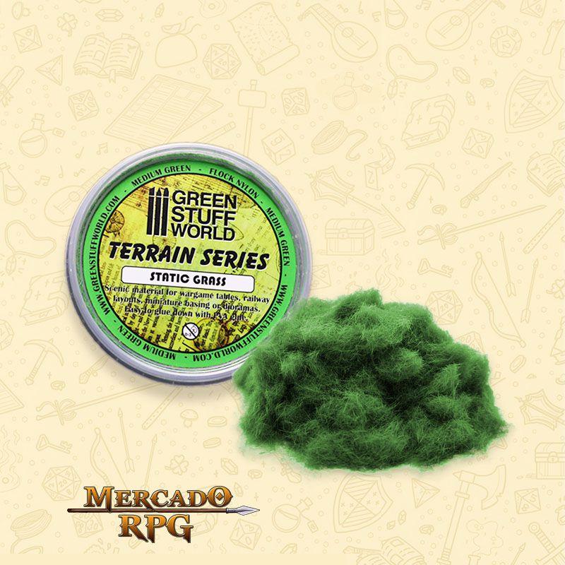 Static Grass Flock 3 mm - Medium Green - 180 ml - RPG