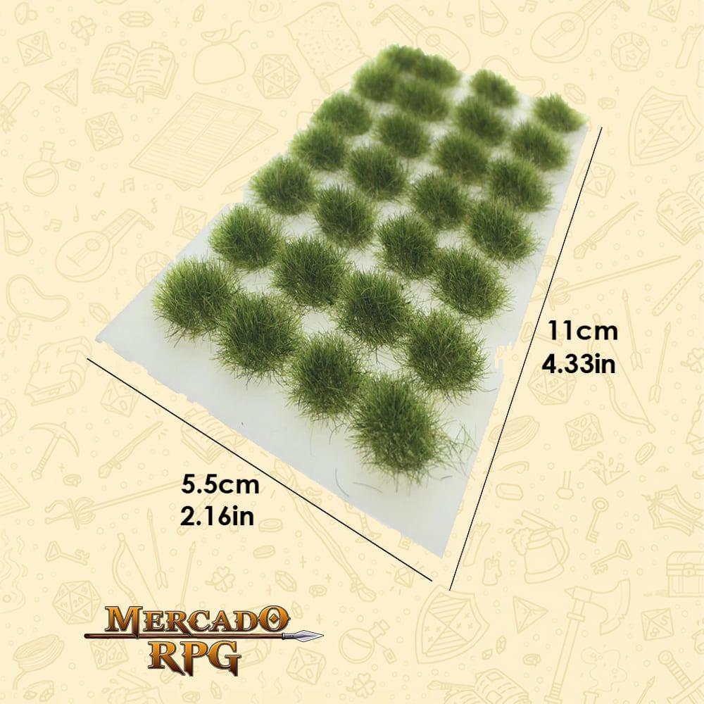 Static Grass Tufts - Grama Estática de 6mm para Cenário - Realistic Green - RPG