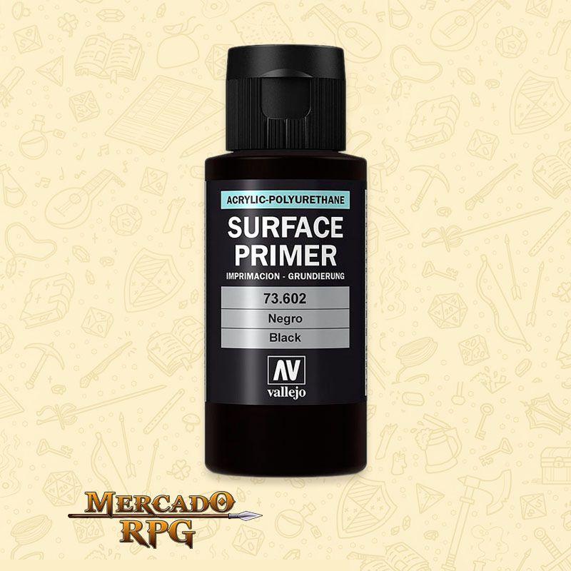 Surface Primer Vallejo Black 60ml - RPG
