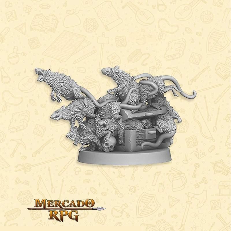 Swarm of Ratz A - Miniatura RPG  - Mercado RPG