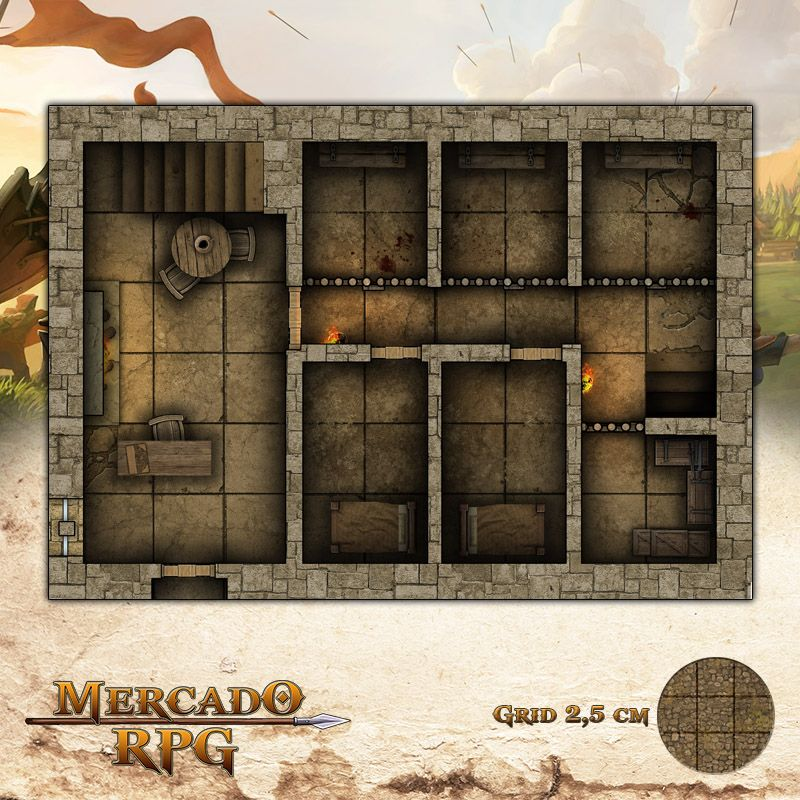 Taverna - Celas 25x17,5 - RPG Battle Grid D&D