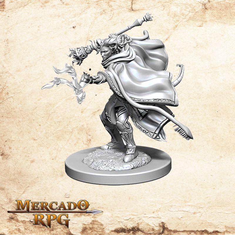 Tiefling Female Warlock A - Miniatura RPG  - Mercado RPG