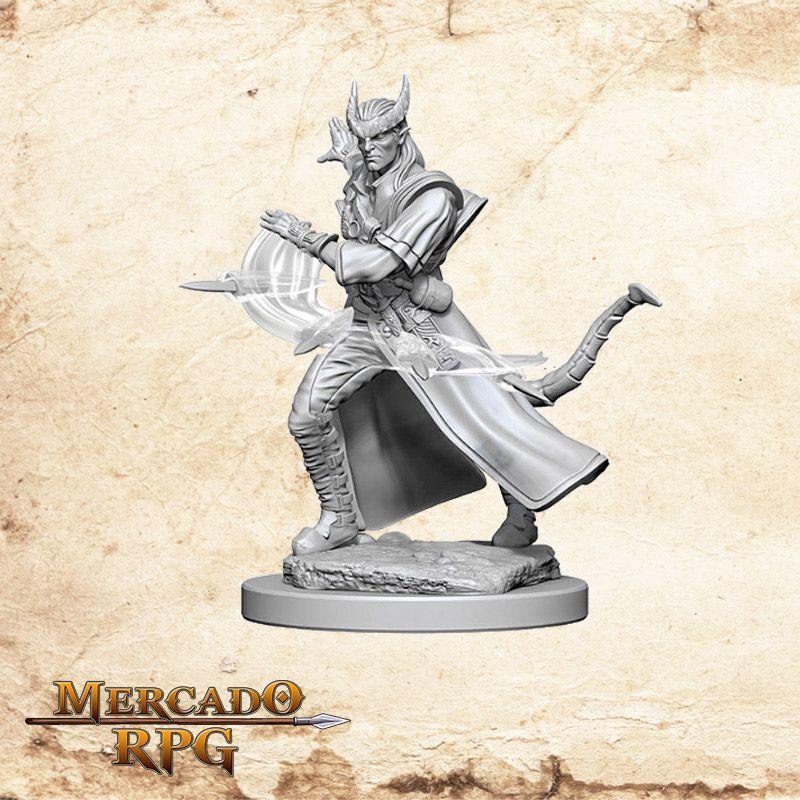 Tiefling Male Sorcerer B - Miniatura RPG