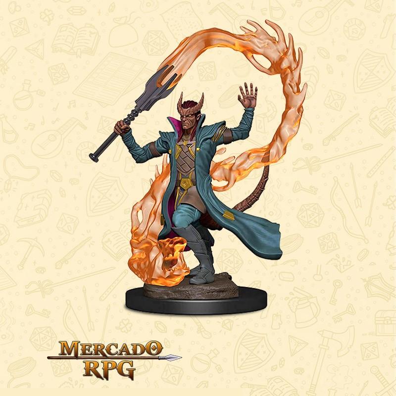 Tiefling Male Sorcerer - Premium - Miniatura RPG