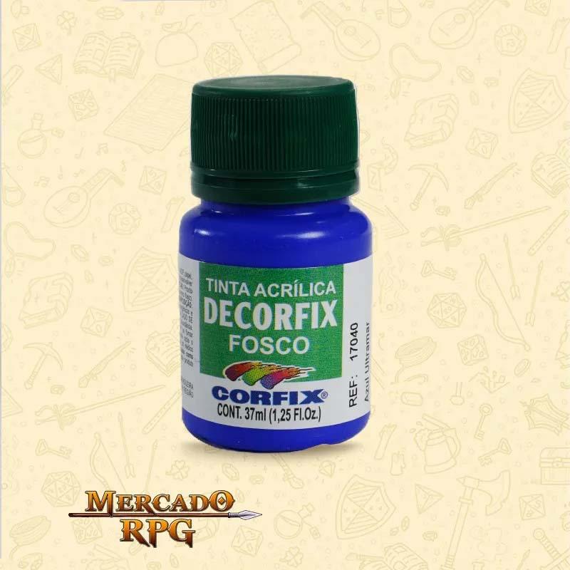 Tinta Acrílica Fosca Decorfix - Azul Primário 37ml - Corfix - RPG