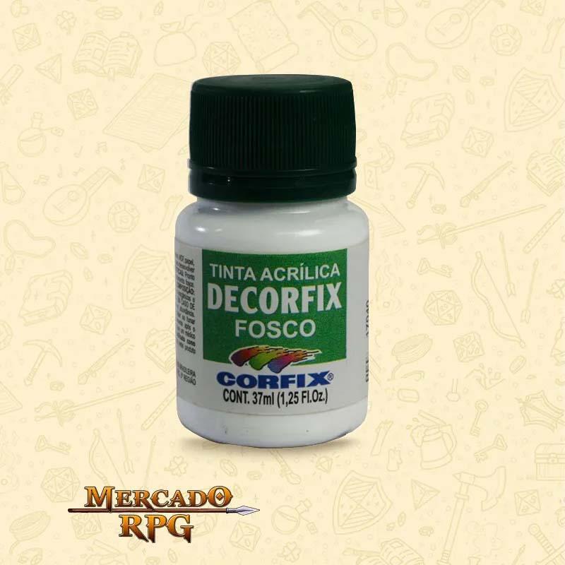 Tinta Acrílica Fosca Decorfix - Branco Gelo 37ml - Corfix - RPG