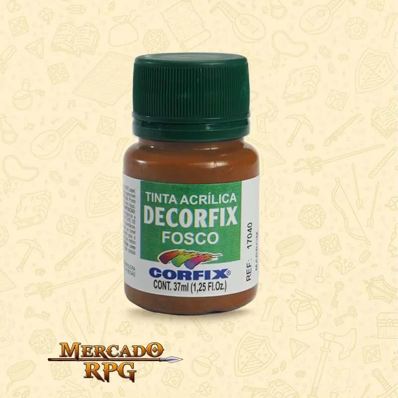 Tinta Acrílica Fosca Decorfix - Ferrugem - Corfix - RPG