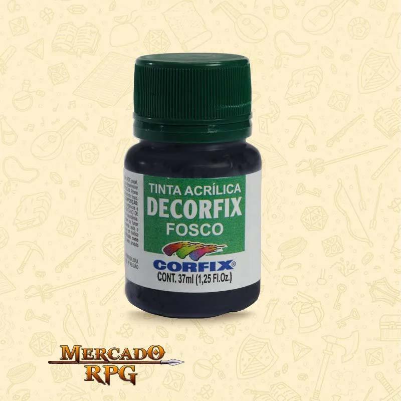 Tinta Acrílica Fosca Decorfix - Gris de Paine 37ml - Corfix - RPG