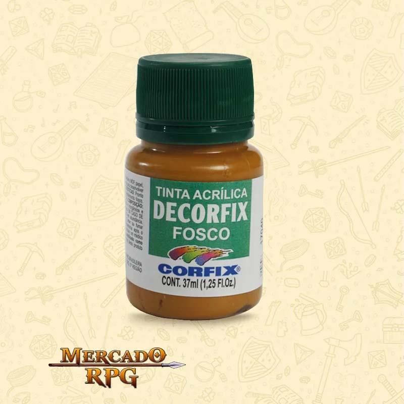 Tinta Acrílica Fosca Decorfix - Marrom Dourado 37ml - Corfix - RPG