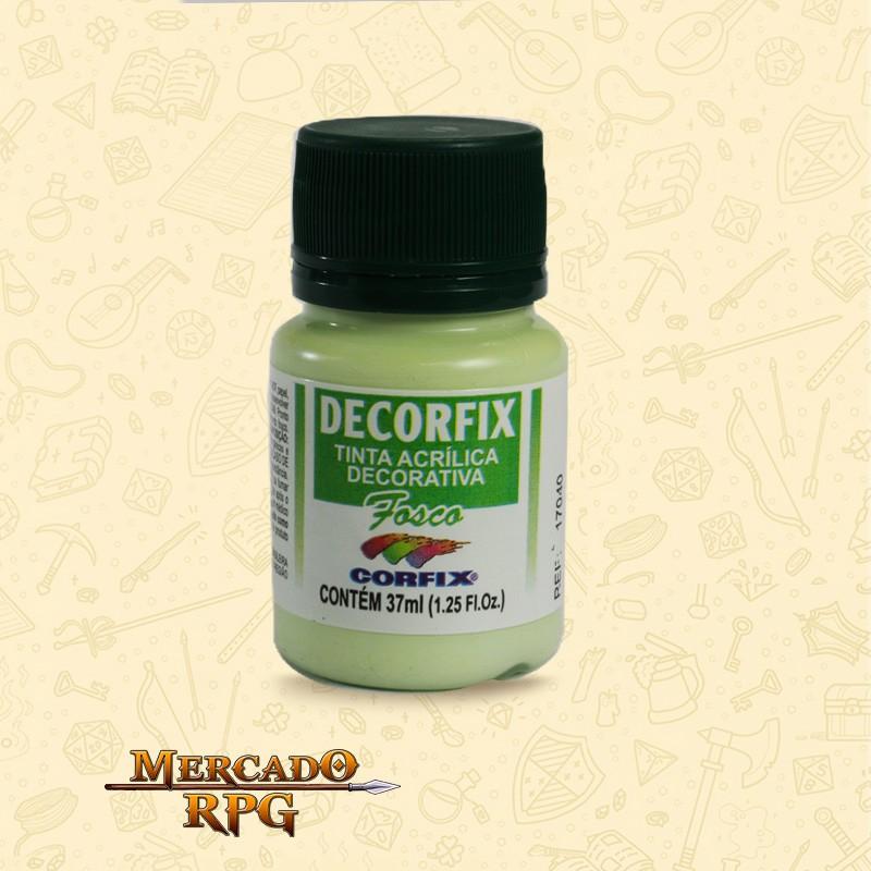 Tinta Acrílica Fosca Decorfix - Verde Cítrico 37ml - Corfix - RPG