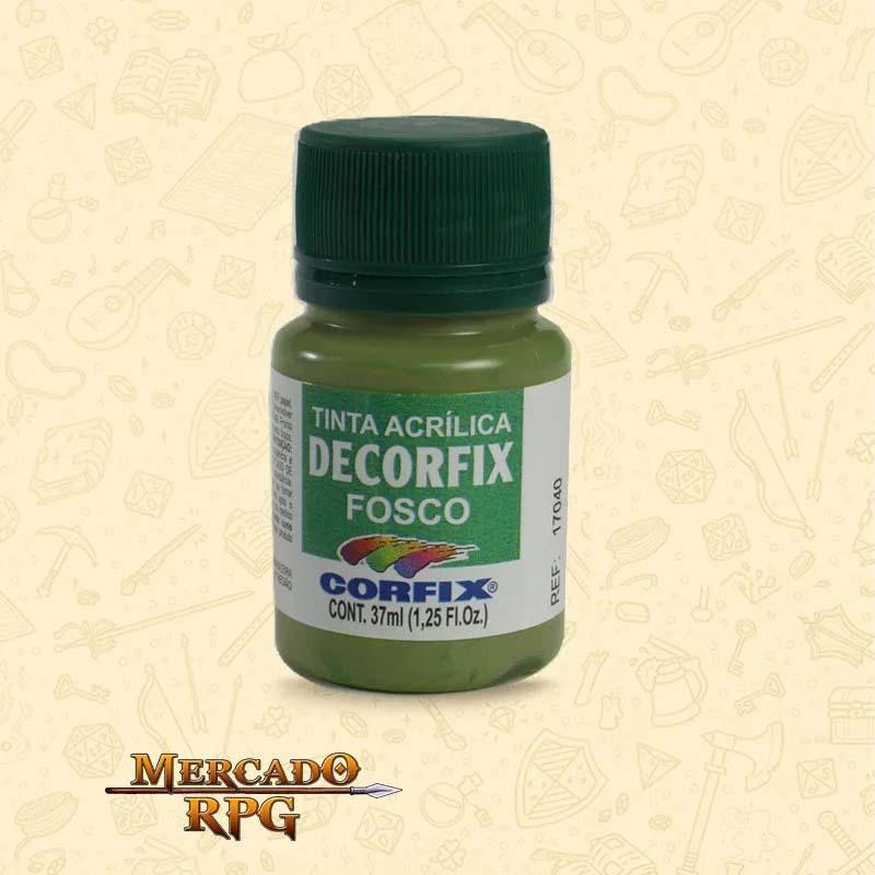 Tinta Acrílica Fosca Decorfix - Verde Grama 37ml - Corfix - RPG
