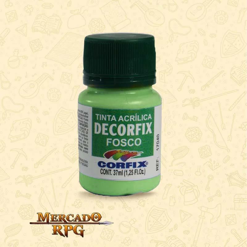 Tinta Acrílica Fosca Decorfix - Verde Hortelã 37ml - Corfix - RPG