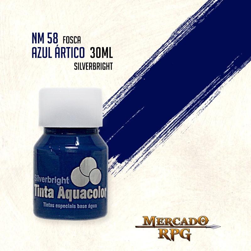 Tinta Fosca Aquacolor - Azul Ártico 30ml Silverbright - RPG