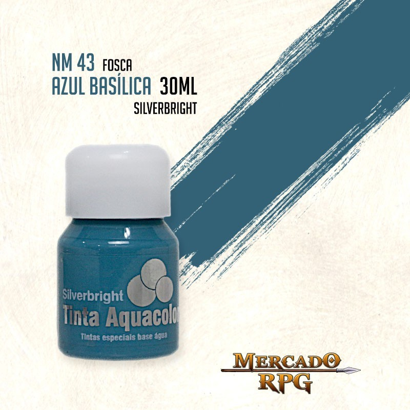 Tinta Aquacolor - Azul Basílica 30ml Silverbright - RPG