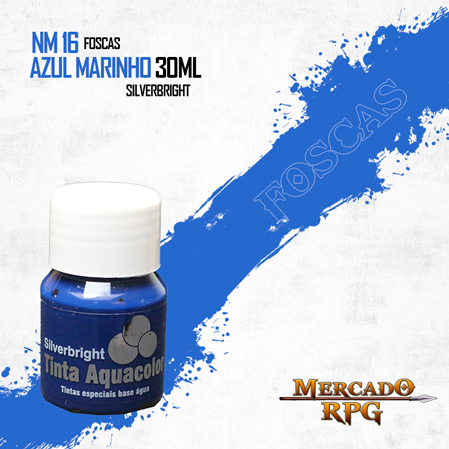 Tinta Fosca Aquacolor - Marinho 30ml Silverbright - RPG
