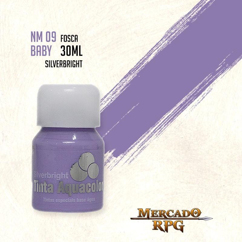 Tinta Fosca Aquacolor - Lilás Baby 30ml Silverbright - RPG