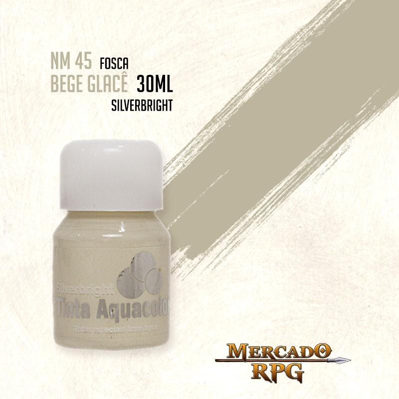 Tinta Fosca Aquacolor - Bege Glacê 30ml Silverbright - RPG