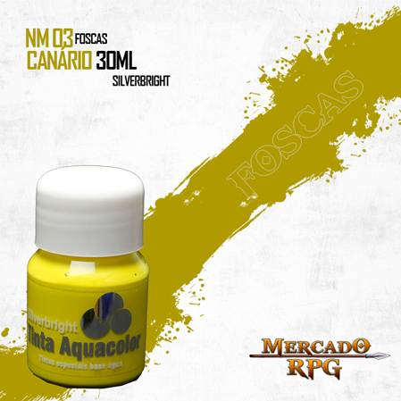 Tinta Fosca Aquacolor - Canário 30ml Silverbright - RPG