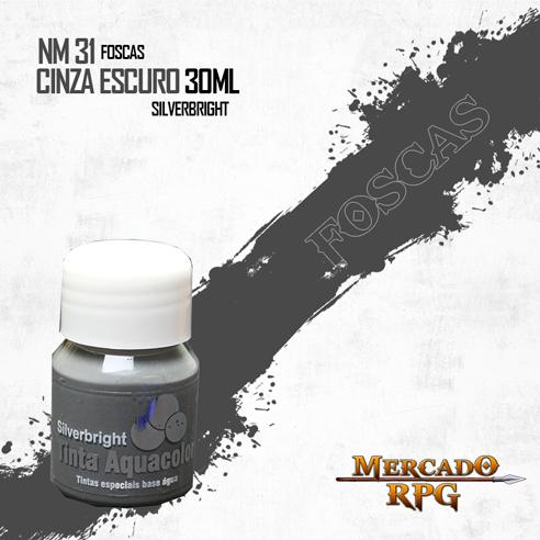 Tinta Aquacolor - Cinza Escuro - RPG  - Mercado RPG