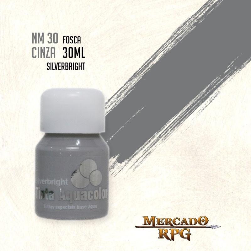Tinta Fosca Aquacolor - Cinza 30ml Silverbright - RPG