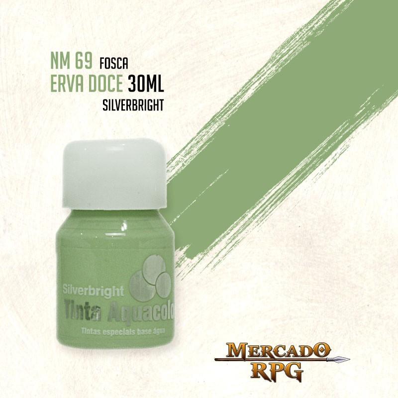 Tinta Fosca Aquacolor - Erva Doce 30ml Silverbright - RPG