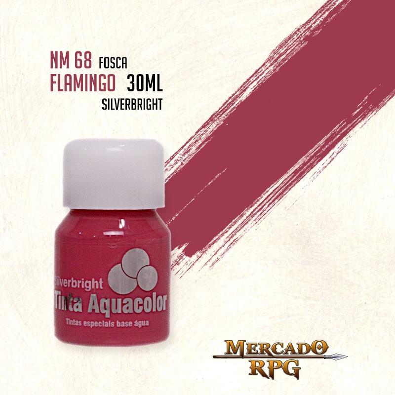 Tinta Fosca Aquacolor - Flamingo 30ml Silverbright - RPG