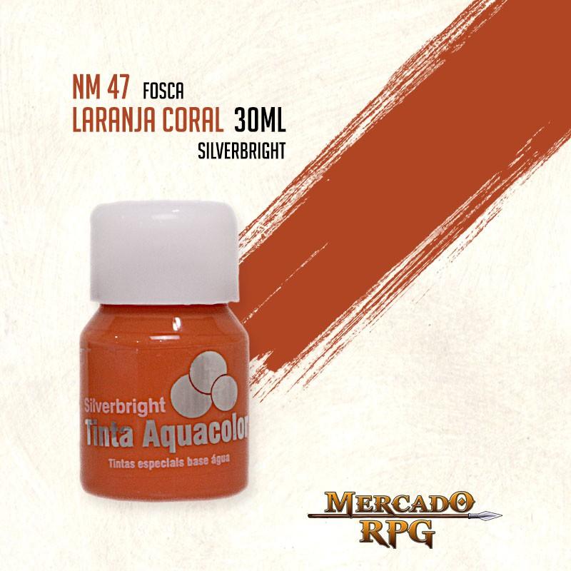 Tinta Aquacolor - Laranja Coral - RPG  - Mercado RPG