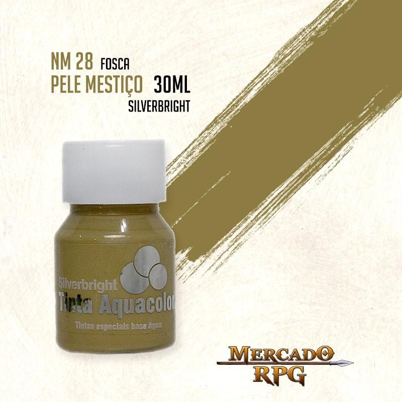 Tinta Fosca Aquacolor - Pele Mestiço 30ml Silverbright - RPG
