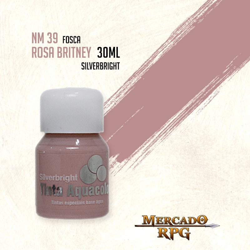 Tinta Fosca Aquacolor - Rosa Britney 30ml Silverbright - RPG