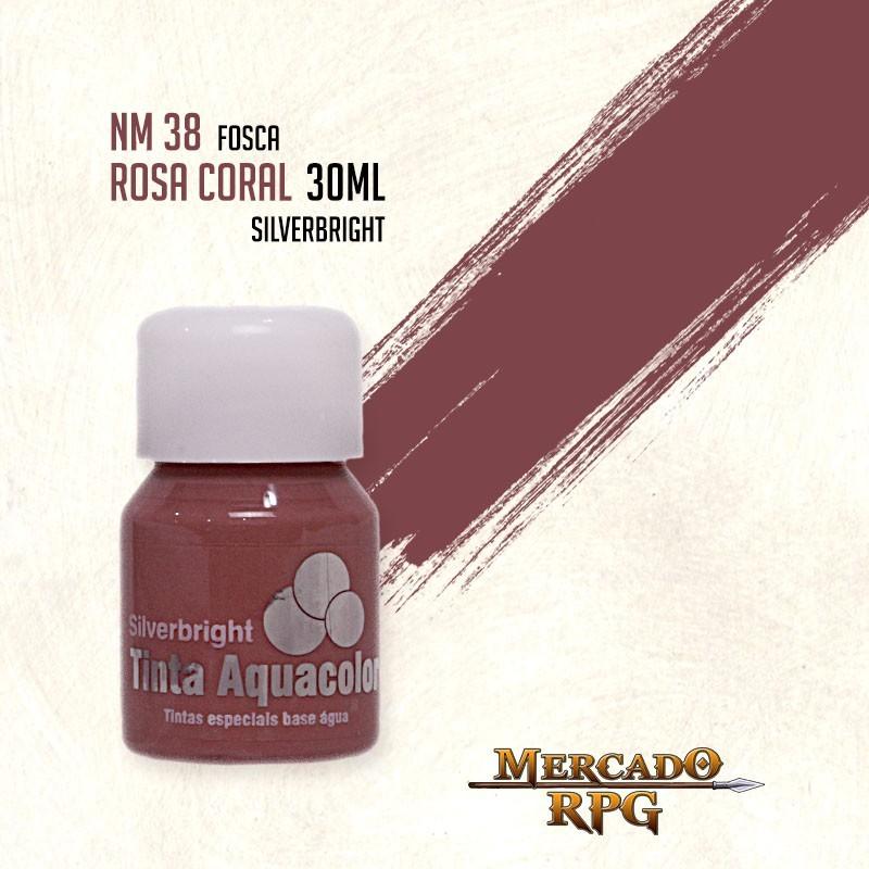 Tinta Fosca Aquacolor - Rosa Coral 30ml Silverbright - RPG