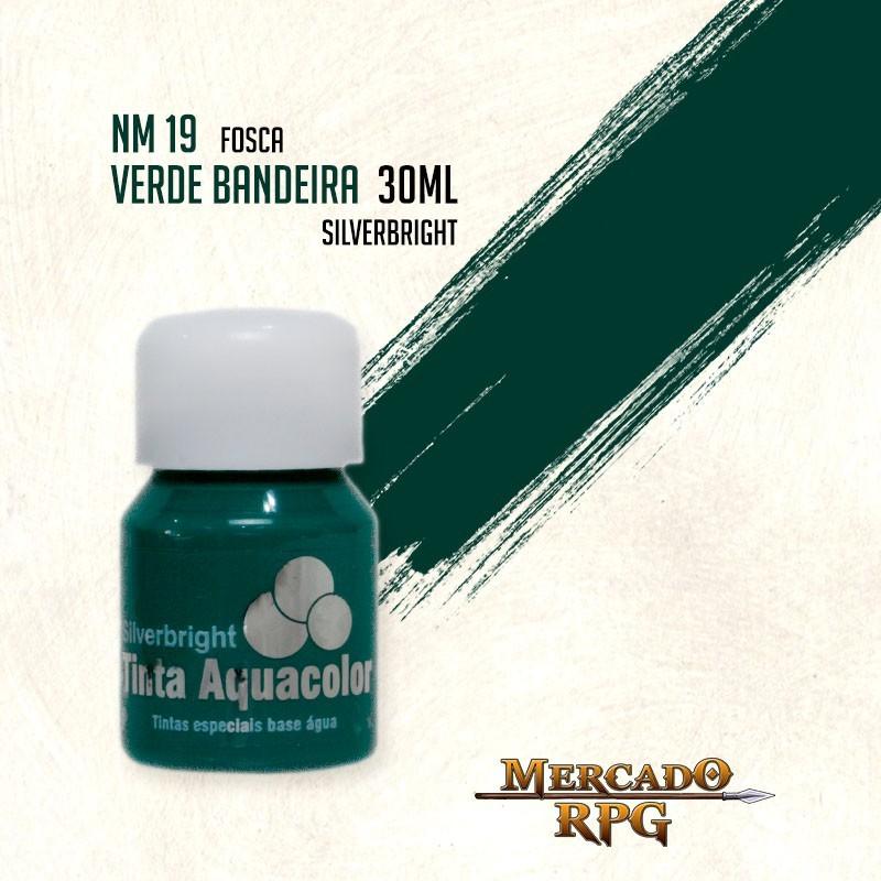 Tinta Aquacolor - Verde Bandeira - RPG  - Mercado RPG