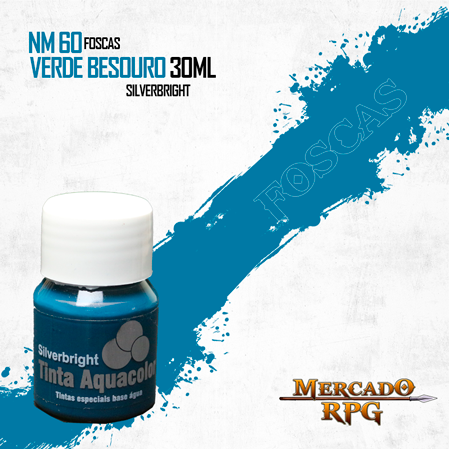 Tinta Fosca Aquacolor - Verde Besouro 30ml Silverbright - RPG