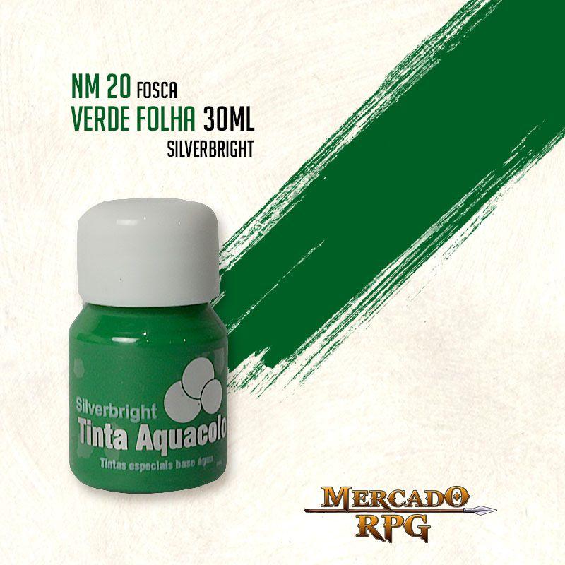 Tinta Fosca Aquacolor - Verde Folha 30ml Silverbright - RPG