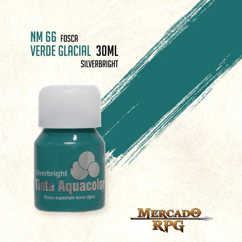 Tinta Fosca Aquacolor - Verde Glacial 30ml Silverbright - RPG