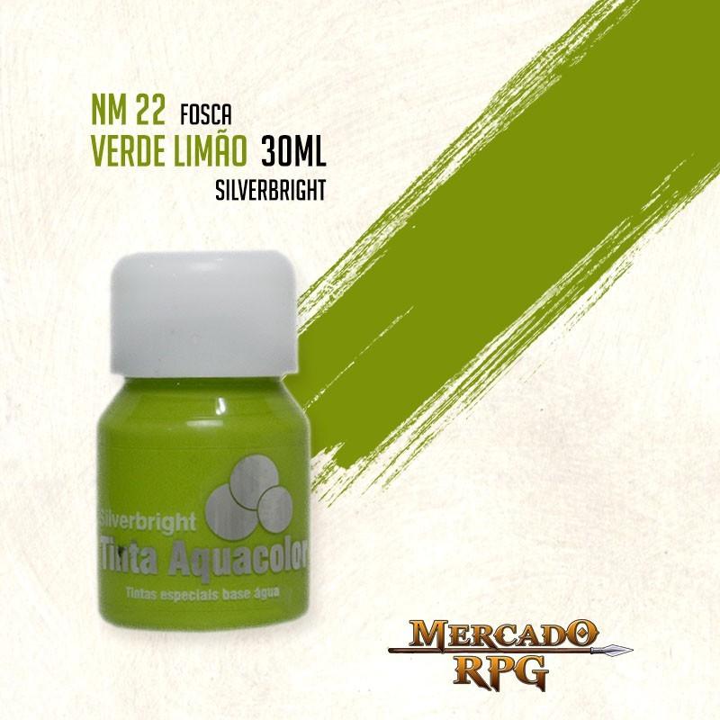 Tinta Fosca Aquacolor - Verde Limão 30ml Silverbright - RPG