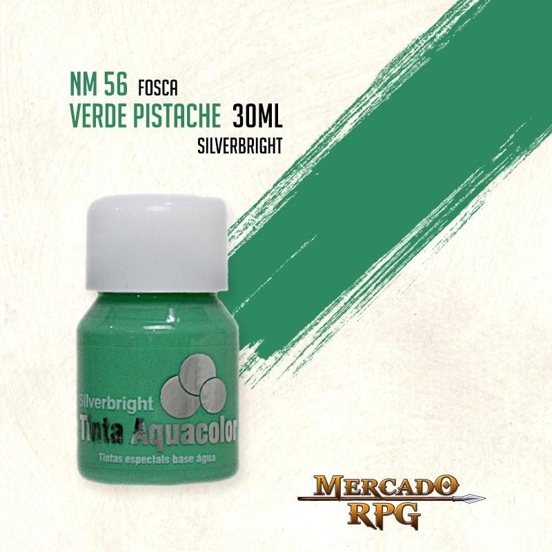 Tinta Fosca Aquacolor - Verde Pistache 30ml Silverbright - RPG