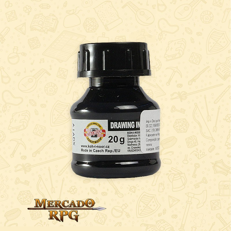 Tinta Caligrafia Drawing Ink 20g - Black - Keramik  - Mercado RPG