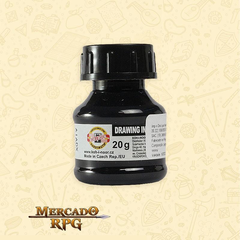 Tinta Caligrafia Drawing Ink 20g - Black - Keramik