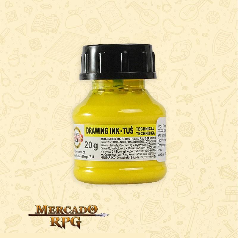 Tinta Caligrafia Drawing Ink 20g - Yellow - Keramik  - Mercado RPG