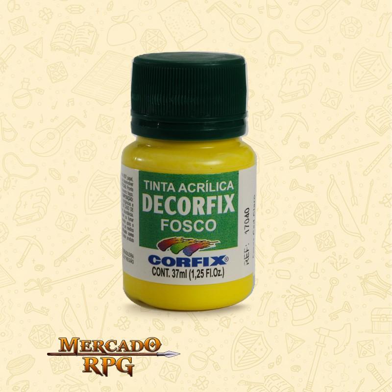 Tinta Acrílica Fosca Decorfix - Amarelo Cádmio Claro 37ml - Corfix - RPG