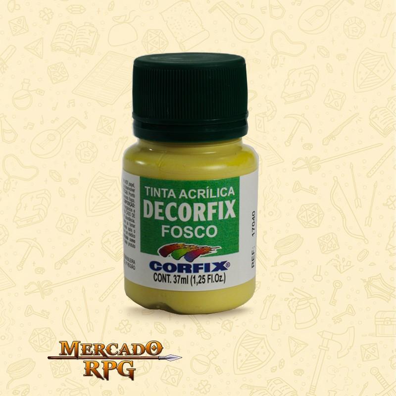 Tinta Acrílica Fosca Decorfix - Amarelo Palha 37ml - Corfix - RPG