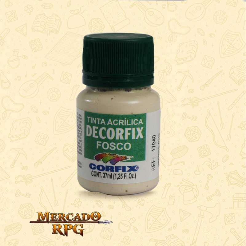 Tinta Acrílica Fosca Decorfix - Amarelo Pele 37ml - Corfix - RPG