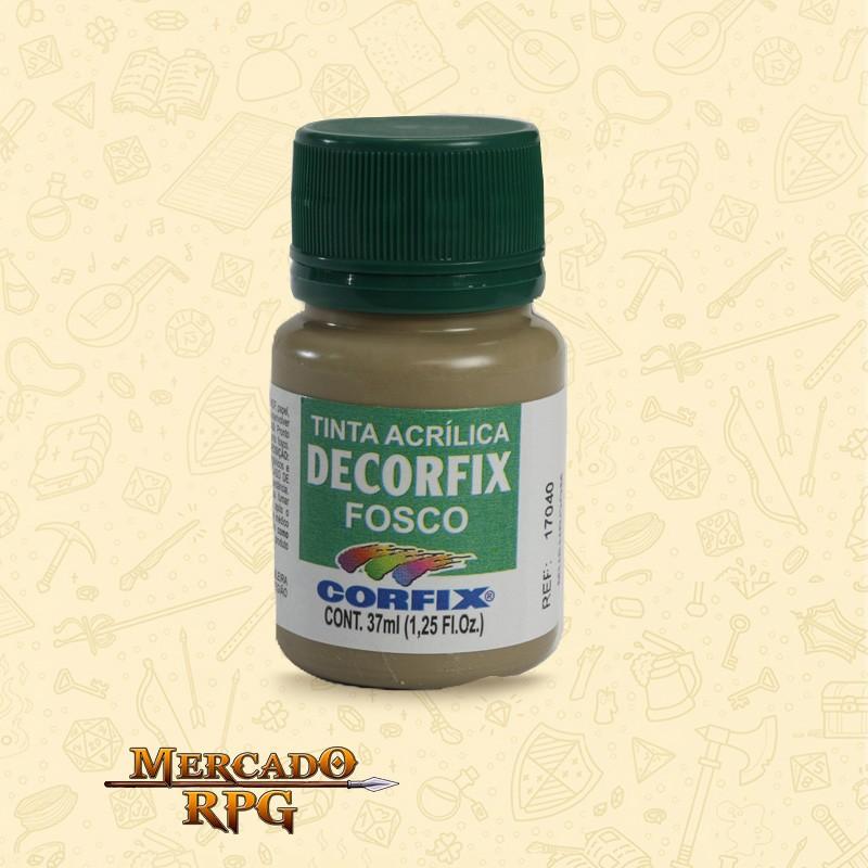 Tinta Acrílica Fosca Decorfix - Avelã 37ml - Corfix - RPG