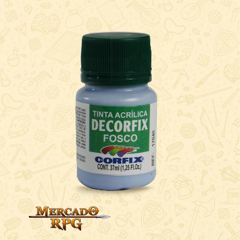 Tinta Acrílica Fosca Decorfix - Azul Caribe 37ml - Corfix - RPG
